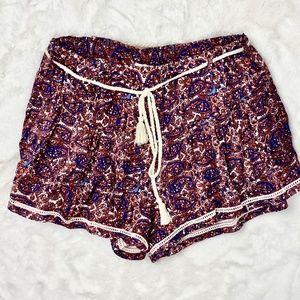 Forever 21 Floral Summer Boho Shorts Sz. S